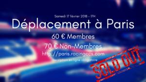 Déplacement à Paris