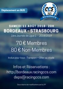Déplacement à Bordeaux