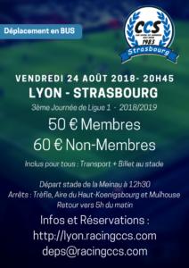 Déplacement à Lyon